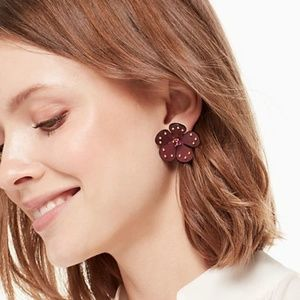 KATE SPADE NY BLOOMING BLING LEATHER STUDS, NWT